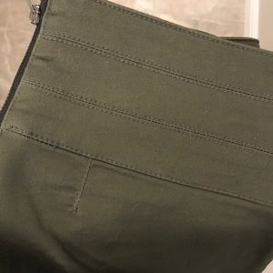 FOREVER21 Army green high waisted zip up pants